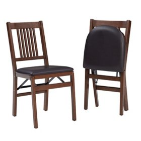 Stakmore Transitional Wood Folding Chair, 2 Pack
