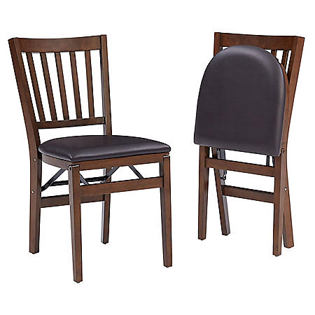 Stakmore School House Wood Folding Chair, 2 Pack