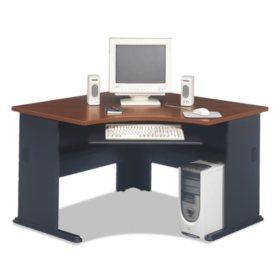"""Bush 48""""W Corner Desk Series A, Hansen Cherry"""