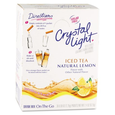 Crystal Light On the Go Drink Mix, Iced Tea (.16 oz. packets, 30 pk.)