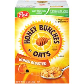 Post Honey Bunches of Oats Honey Roasted Cereal (48 oz.)