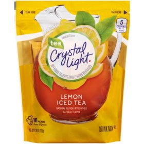 Crystal Light Iced Tea Natural Lemon Drink Mix (3.8 oz., 16 pk.)