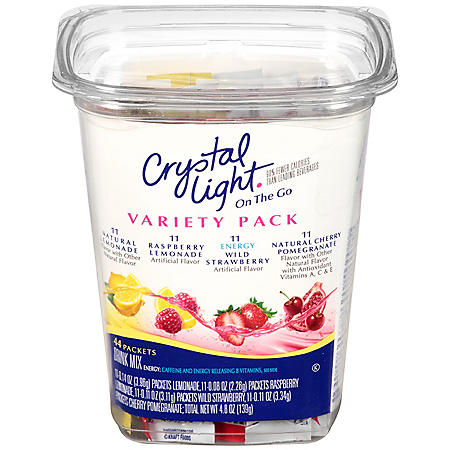 Crystal Light On-the-Go Drink Mix Variety Pack (44pk)