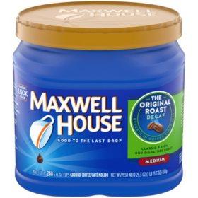 Maxwell House Decaffeinated Ground Coffee, Original Roast (29.3 oz.)
