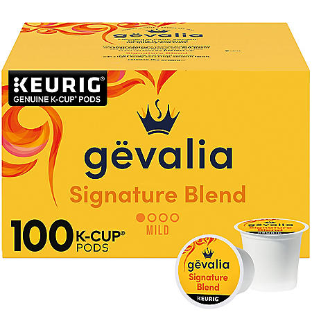 Gevalia Signature Blend Mild Roast K-Cup Coffee Pods (100 ct.)