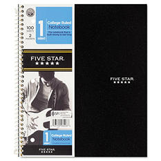Five Star Wirebound Notebook, College Rule, 8 1/2 x 11, 1 Subject, 100 Sheets, Various Colors