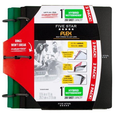 """Five Star Flex 1"""" Note Binder - 2 Pack"""