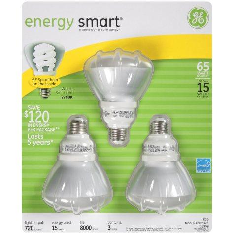 GE 16 Watt CFL Light Bulbs - Soft White (3-pack)