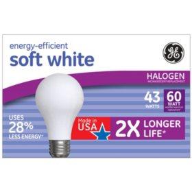 GE 43W Energy Efficient Halogen Light Bulb (12 Pk.)
