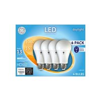 GE Daylight LED 100W Replacement Indoor General Purpose A19 Light Bulbs (4-Pack)