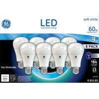 GE 9 Watt A19 LED Bulb (Soft White, 8 pk.)