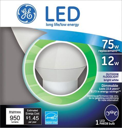 GE 12 Watt LED Floodlight (Replaces 65 Watt Bulb)