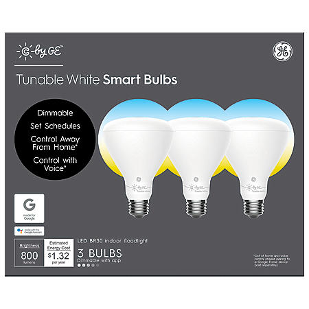 C by GE Tunable White BR30 Smart LED Bulbs (3-Pack) - Sam's Club