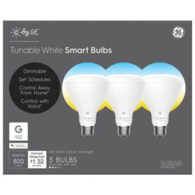 C by GE Tunable White BR30 Smart LED Bulbs (3-Pack)