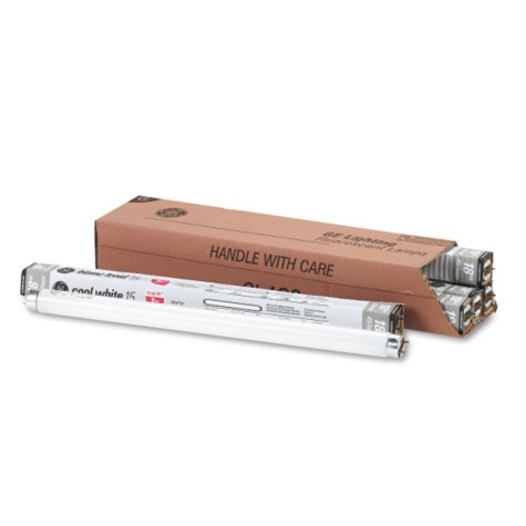 GE Fluorescent Light Tubes - 15 Watts - 6 Pack
