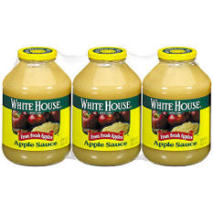 White House Apple Sauce - 3 / 48 oz. jars