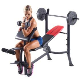 Weider® Pro 265 Standard Bench with Weight Set