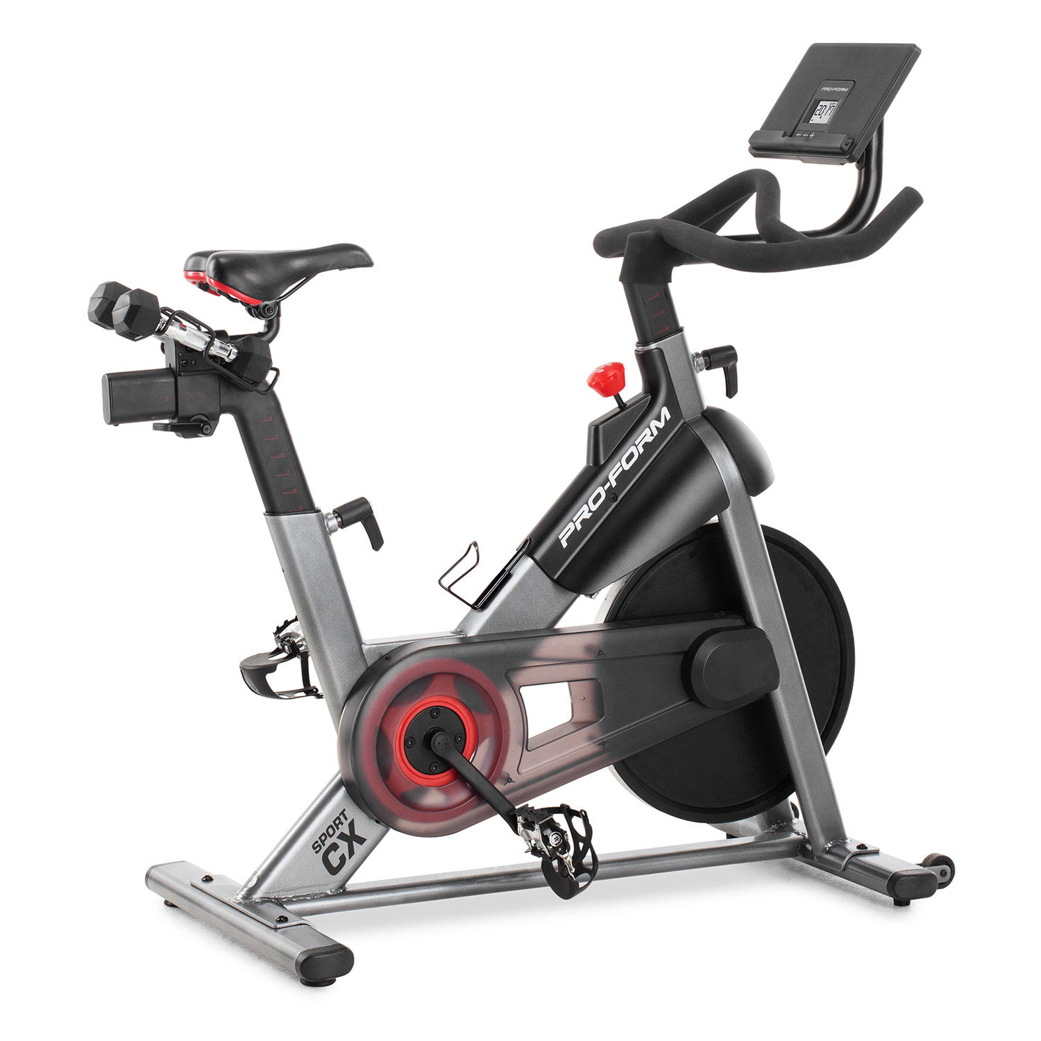 ProForm Sport CX Stationary Exercise Bike with 3-Lb. Dumbbells