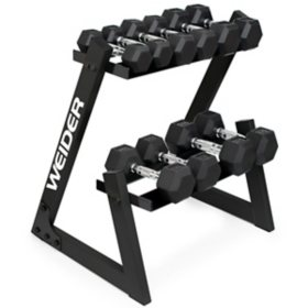 Weider Dumbbell Set and Rack