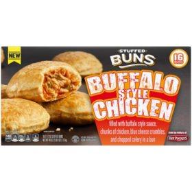 Hot Pockets Stuffed Buns Buffalo Style Chicken, Frozen (16 ct.)