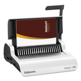 Fellowes - Pulsar Comb Binding System, 300 Sheets, 18 1/8 x 15 3/8 x 5 1/8 -  White