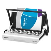 Fellowes - Star 150 Manual Comb Binding Machine, 17 11/16 x 9 13/16 x 3 1/8 -  White