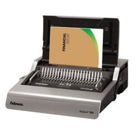 Fellowes - Galaxy Comb Binding System, 500 Sheets, 19 5/8 x 17 3/4 x 6 1/2 -  Gray