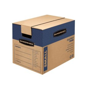 "Bankers Box SmoothMove Prime Small Moving/Storage Boxes, Kraft (17 1/4"" x 12 3/8"" x 12 5/8"", 10 ct.)"