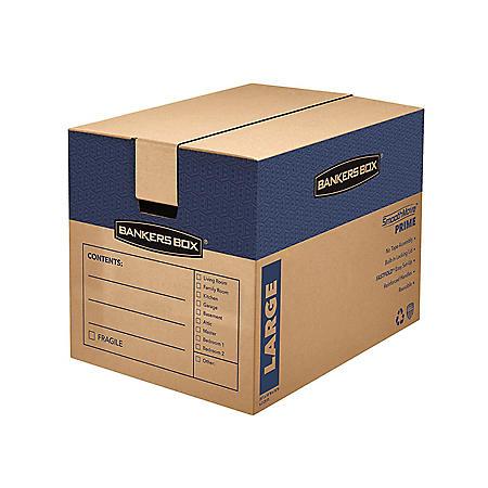 "Bankers Box SmoothMove Prime Large Moving/Storage Boxes, Kraft (25"" x 18 1/4"" x 19"", 6 ct.)"