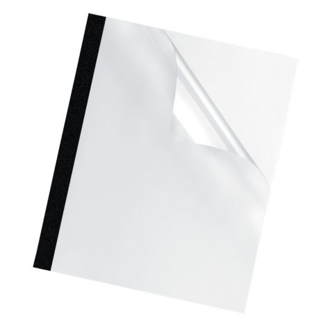 """Fellowes Thermal Presentation Covers - 1/8"""" - 30 sheets - Black"""