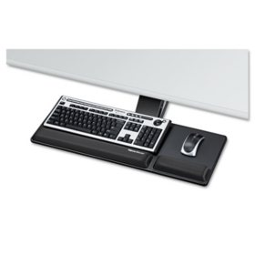 Fellowes - Designer Suites Compact Keyboard Tray, 19w x 9-1/2d -  Black