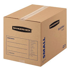 Bankers Box SmoothMove Basic Small Moving Boxes, Kraft/Black (16 1/2 x 12 1/4 x 12 5/8, 25ct.)