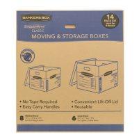 Bankers Box SmoothMove Classic 14 Box Kit (8 Medium/6 Large)