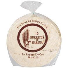 La Espiga de Oro Flour Tortillas Burrito - 3/10ct