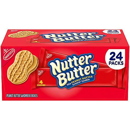 Nutter Butter Peanut Butter Sandwich Cookies (24 pk.)