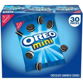 Nabisco Mini Oreo Chocolate Sandwich Cookies (1.5 oz., 30 ct.)