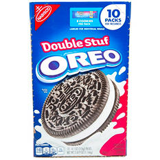 Nabisco Double Stuf Oreo (8 cookies/pack, 10 pks.)