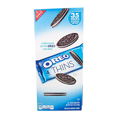 OREO Thins Chocolate Sandwich Cookies (1.02 oz., 35 pk.)