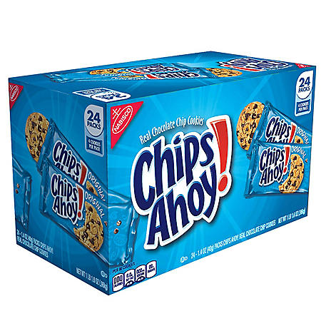 CHIPS AHOY! Chocolate Chip Cookies (24 Snack Packs)