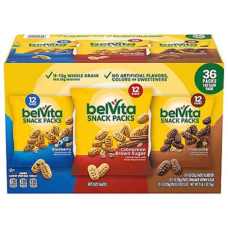 belVita Breakfast Biscuit Bites Variety Pack (36 pk.)