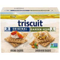 Triscuit Original and Garden Herb Whole Grain Wheat Crackers Variety Pack (4 pk.)