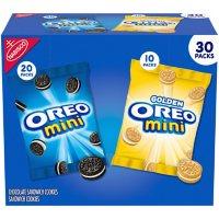 OREO Mini Mix Sandwich Cookies Variety Pack, Snack Packs (30 pk.)