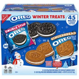 Oreo Sandwich Cookie Winter Treats Gingerbread Flavor Variety Pack (45 ct.)
