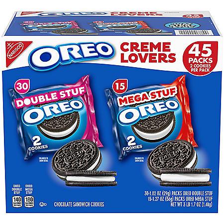 OREO Creme Lovers Variety Pack (45 ct.)
