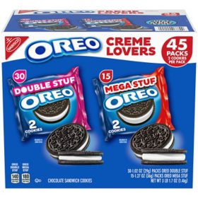 OREO Creme Lovers Variety Pack (45 ct.)