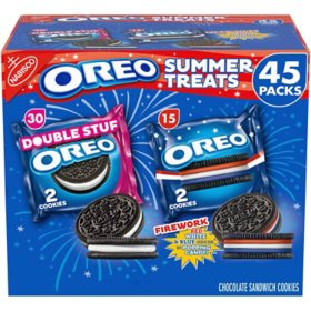 OREO Double Stuf Cookies and OREO Firework Cookies Summer Treats Variety Pack (45 pk.)