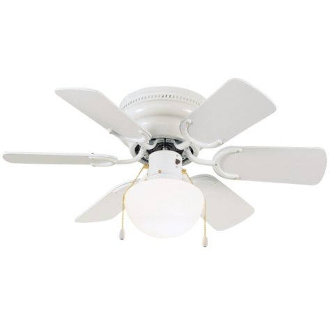 """Atrium by Design House 30"""" 6-Blade Ceiling Fan with Light Kit - White"""
