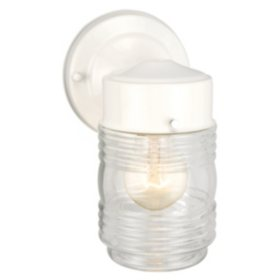 Jelly Jar by Design House Outdoor Downlight - White
