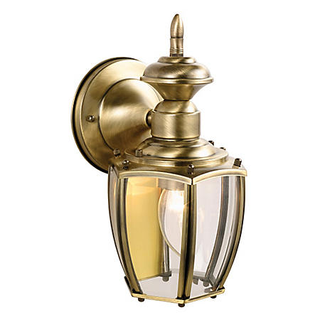 Jackson by Design House Antique Brass Outdoor Downlight