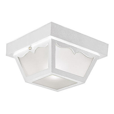 Design House Outdoor Flush Mount Ceiling Light - White